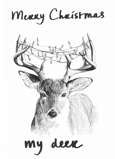 Merry Christmas my deer / kerstkaart